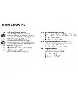 45 psc. COMBO-tool set