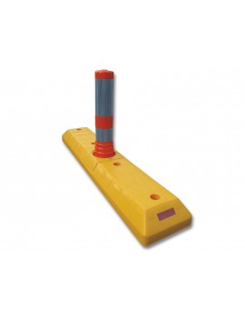 Bollard with motion controller (yellow)